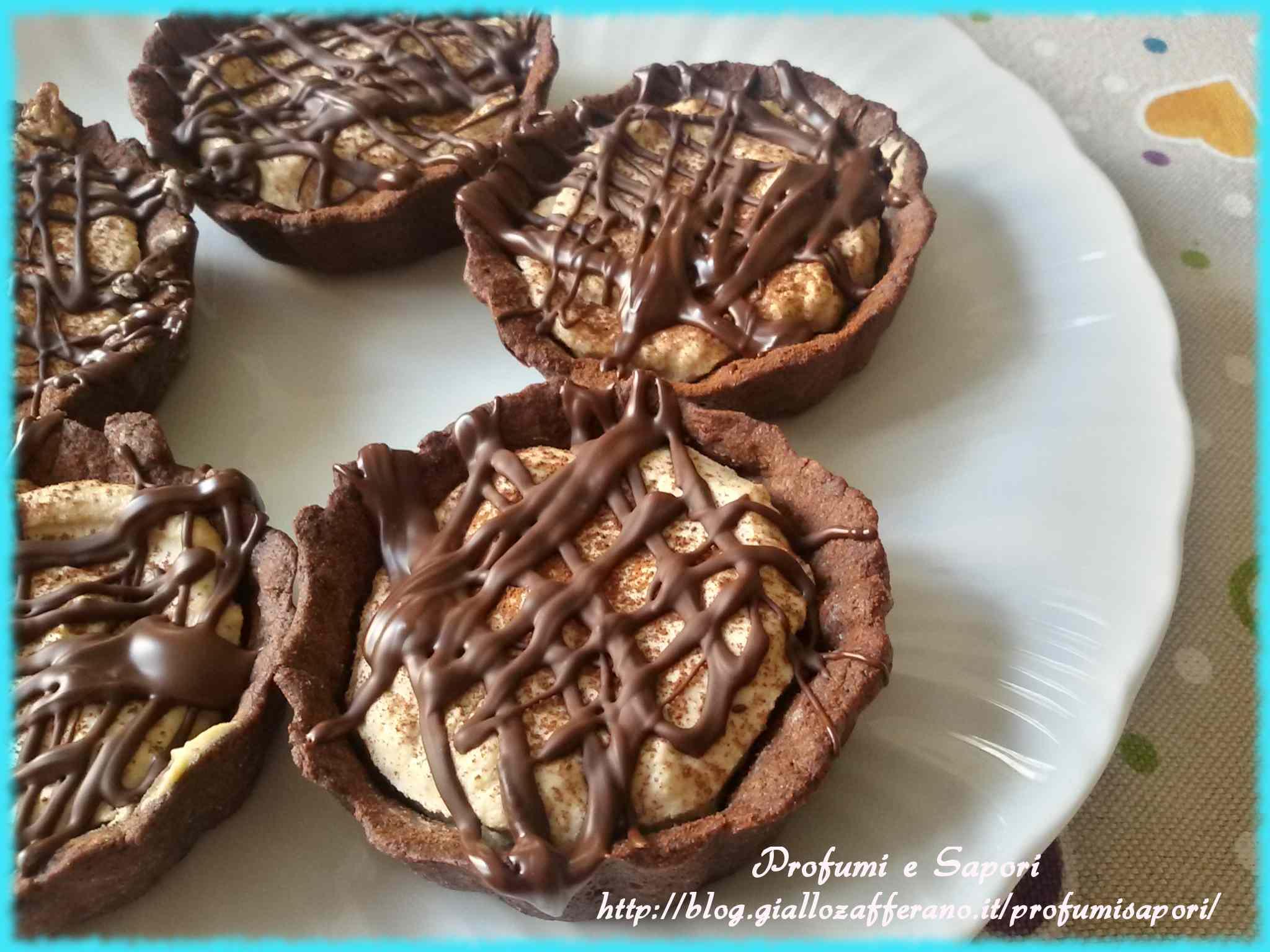Crostatine al cioccolato e crema al caff`