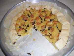 Torta rustica con patate e funghi