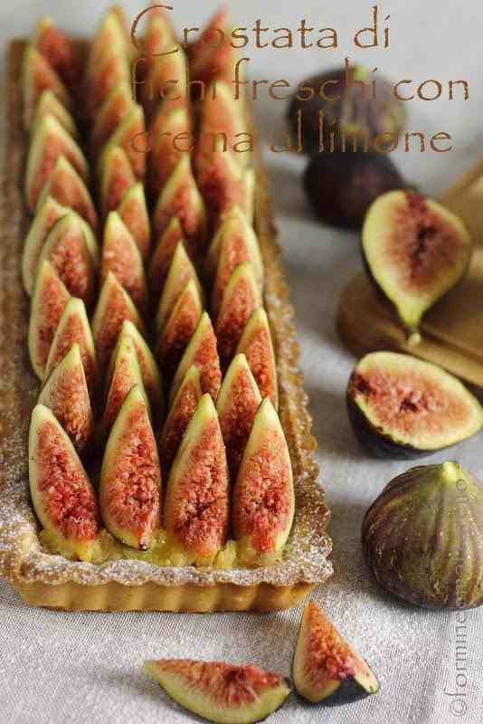 Ricetta: Crostata di fichi freschi con crema al limone