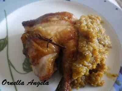 Pollo in salsa di sidro e mele