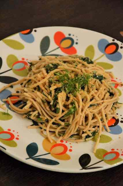 Ricetta: Tagliolini integrali con finocchietto, acciughe e pecorino