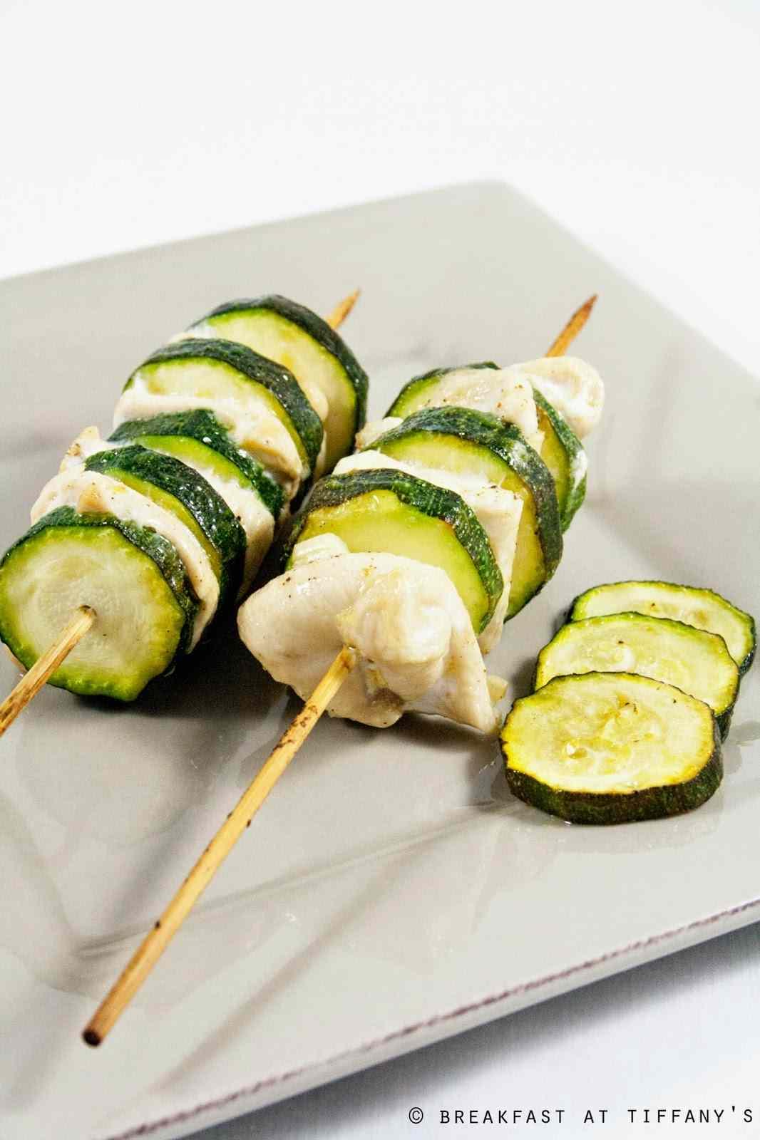 Ricetta: Spiedini di pollo e zucchine / chicken skewers with zucchini