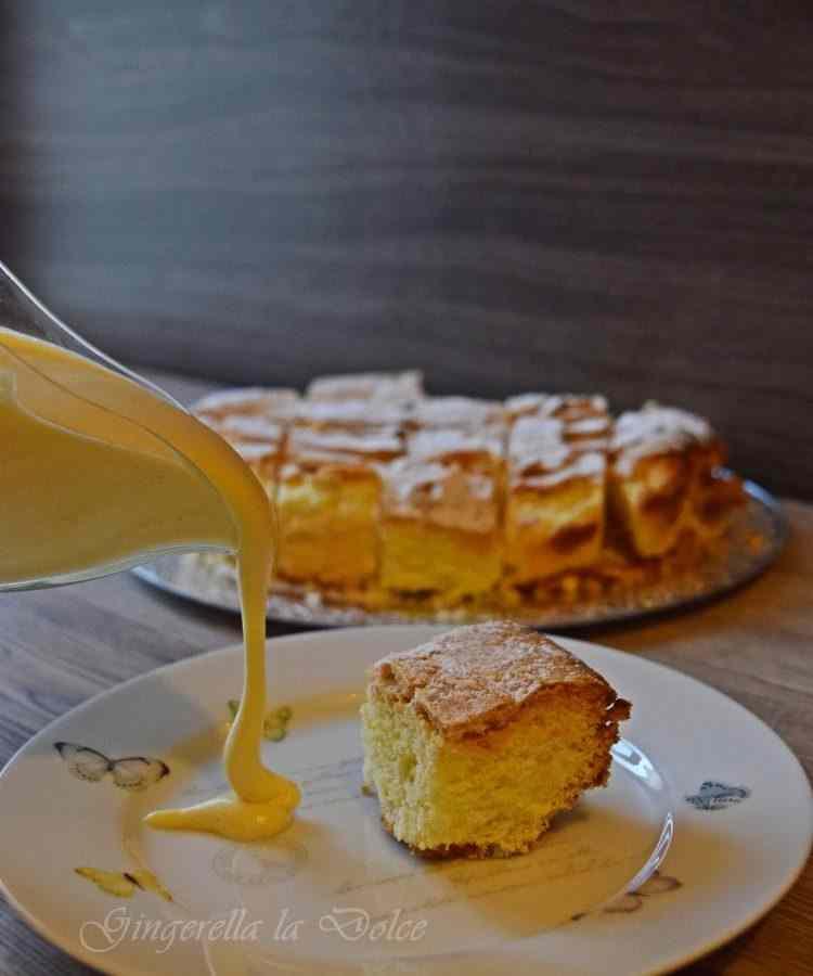 Torta sabbiosa con zabaione