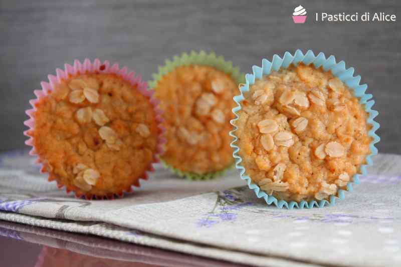Ricetta: Muffins ai fiocchi d\'avena