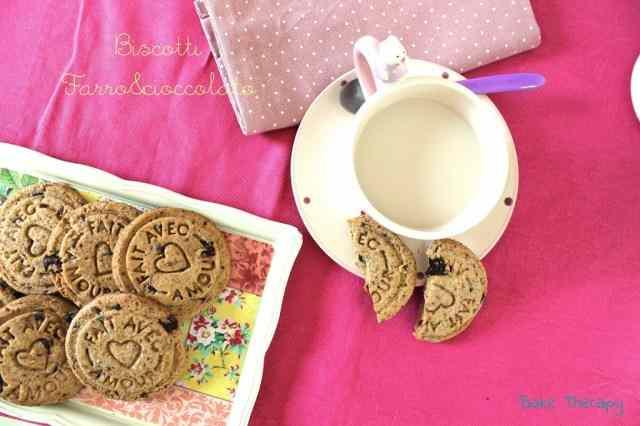 Ricetta: Biscotti farro e cioccolato