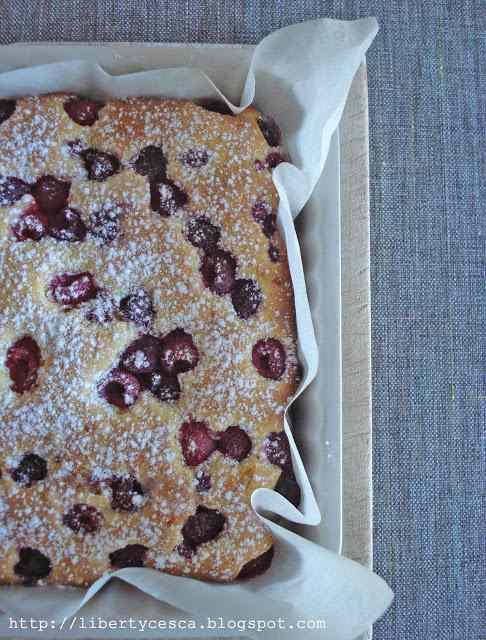 Ricetta: Torta al cioccolato bianco e lamponi / cake with white chocolate and raspberries