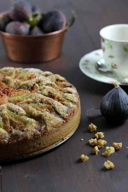 Ricetta: torta di fichi e noci