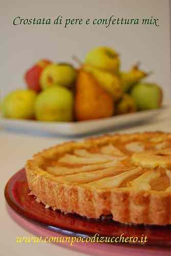 Crostata di pere e confettura mix