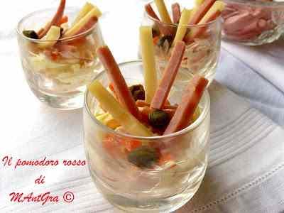 Ricetta: Filange di  prosciutto cotto, fontina e verdurine