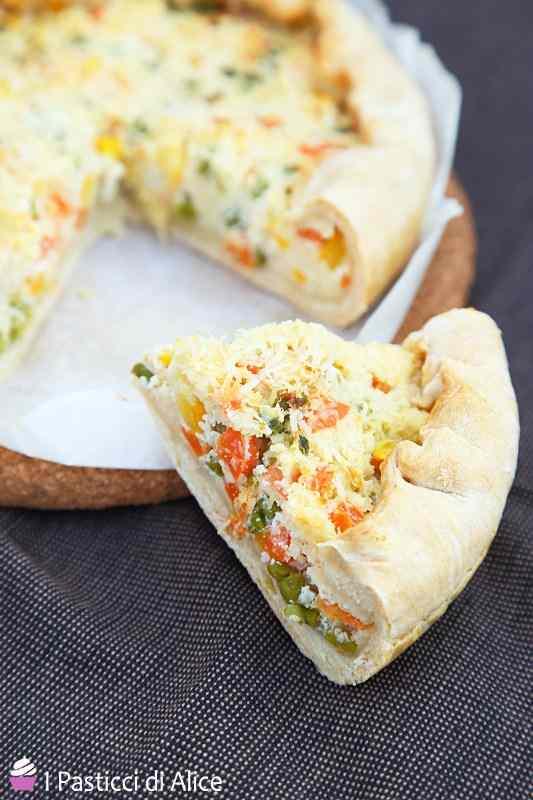 Ricetta: Torta Salata Ricotta e Verdure