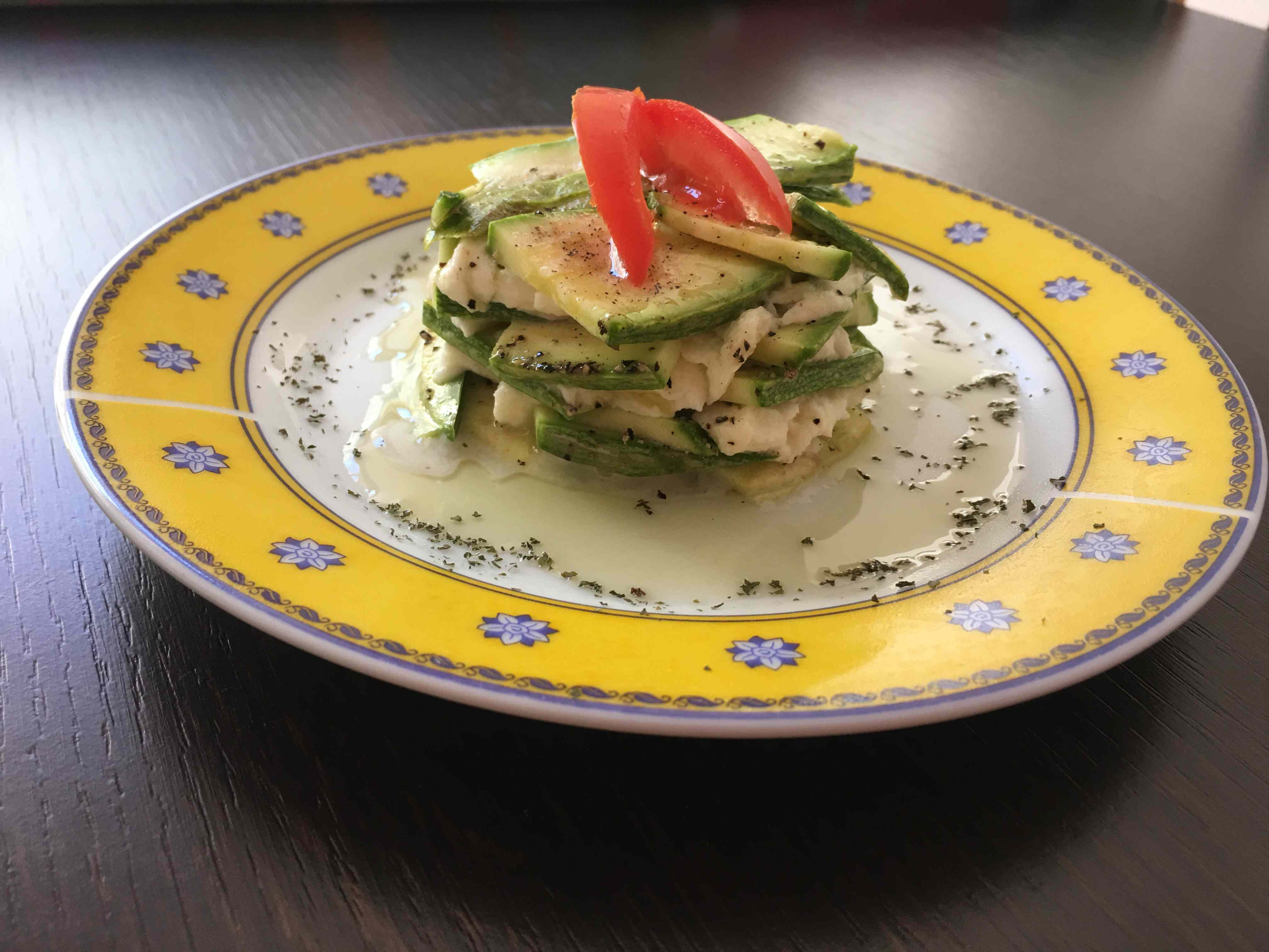 Ricetta: Lasagnetta di zucchine crudista