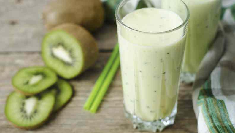 Frullato di kiwi per intolleranti al latte!