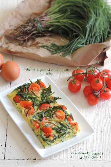 Frittata di pomodorini e agretti col bimby