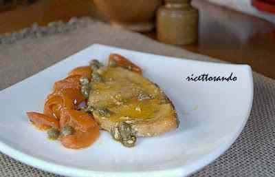 Ricetta: Tranci di pescespada capperi e pomodorini