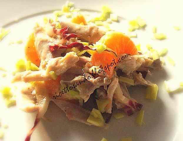 Ricetta: Insalata di pollo agrumi e noci  light
