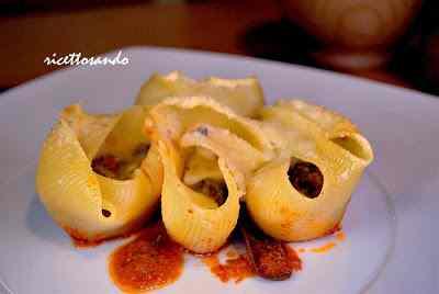 Ricetta: Pasta lumaconi o conchiglioni al gratin