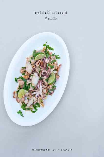 Ricetta: Insalata di calamaretti e rucola / calamari and rocket salad recipe