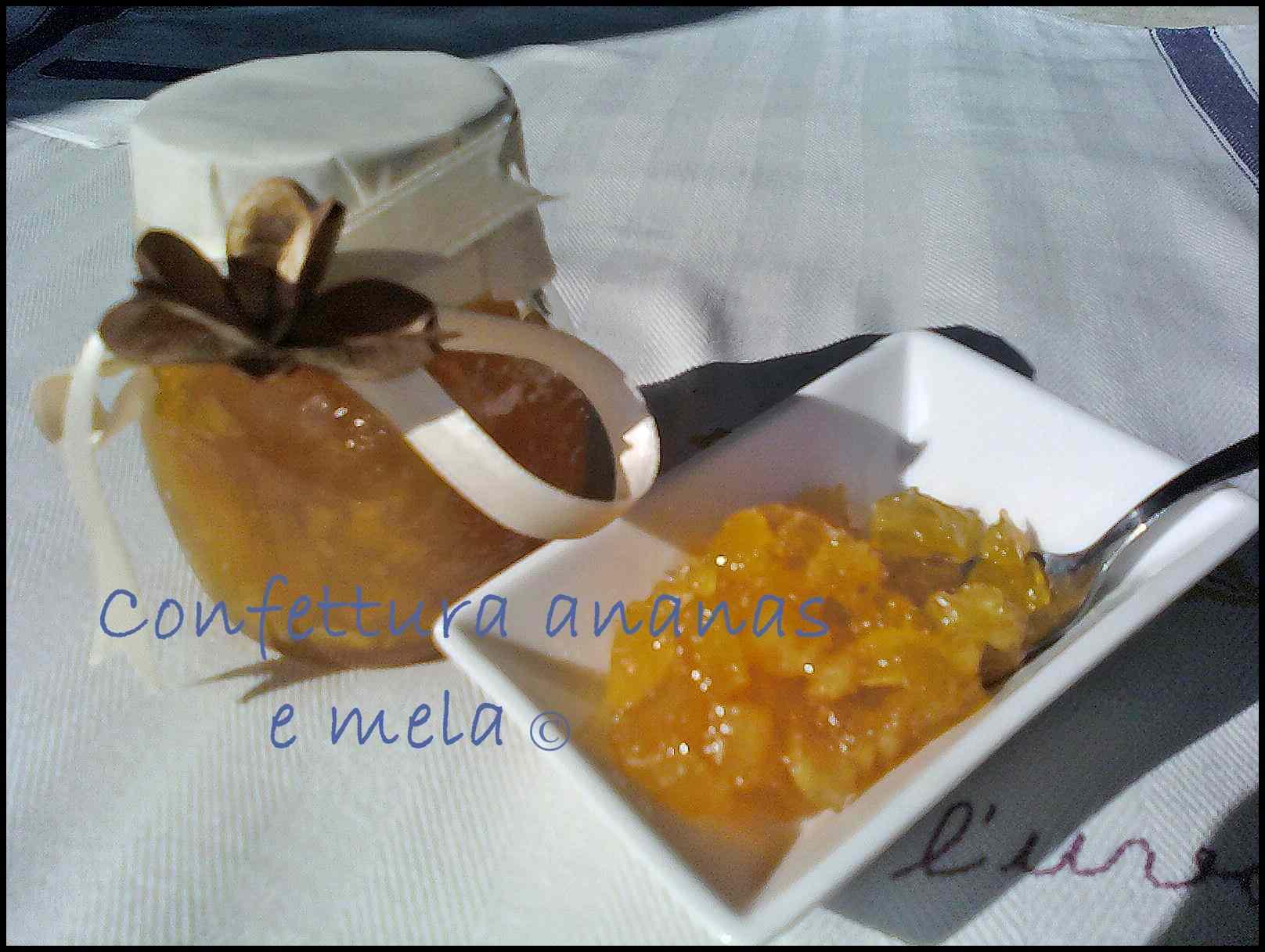 Confettura ananas e mela