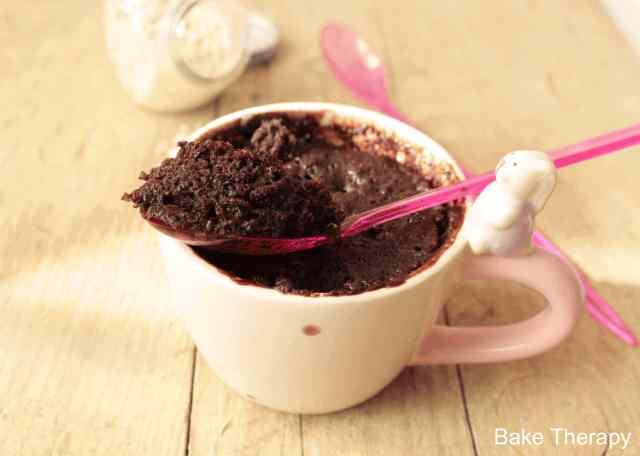 Mug cake al cioccolato e castagne