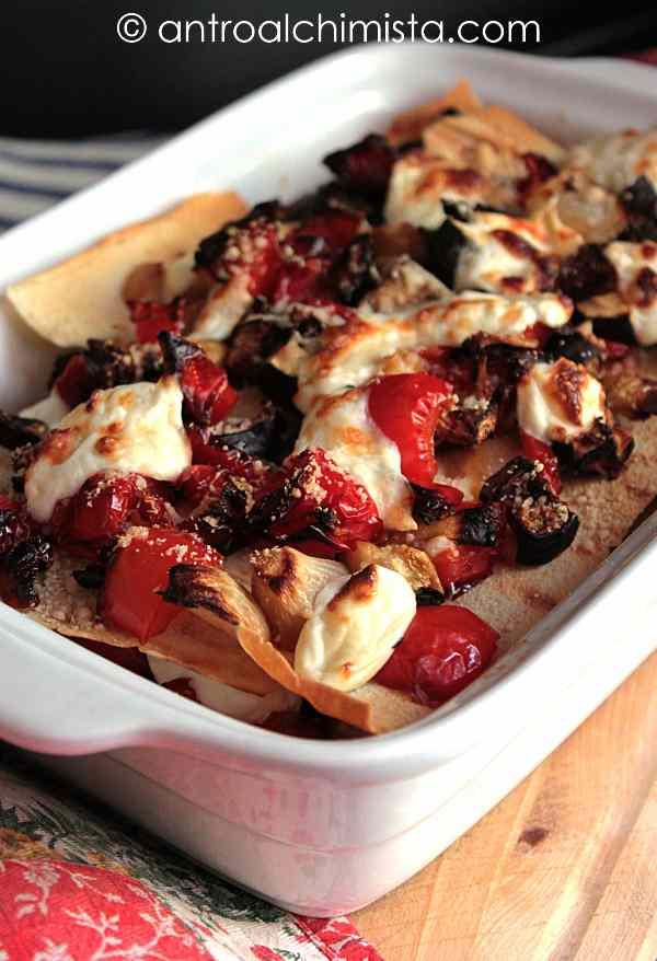 Ricetta: Lasagne di Pane Carasau con Verdure Grigliate e Stracchino