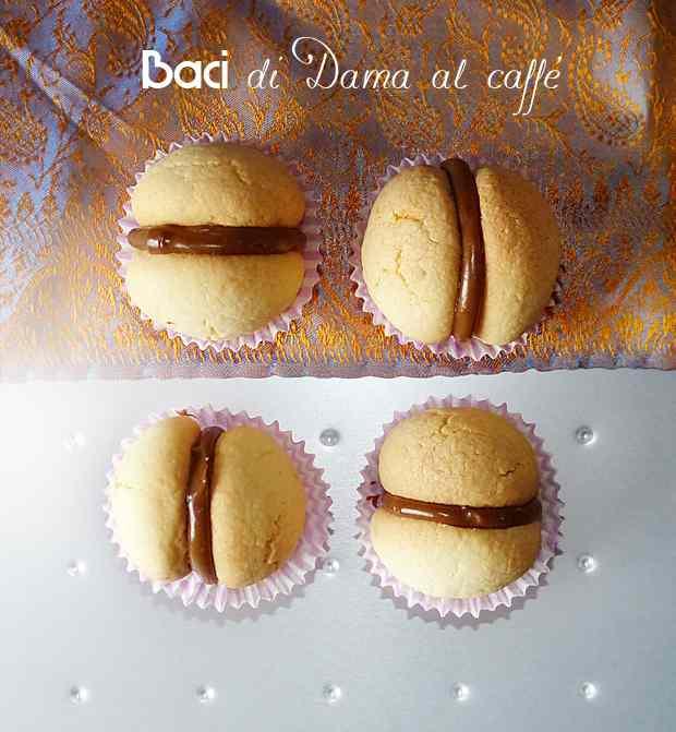 Baci di dama al caffe e cioccolata bianca
