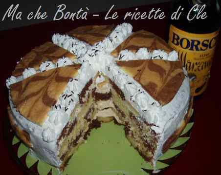 Ricetta: Torta scacchiera con crema al San Marzano Borsci