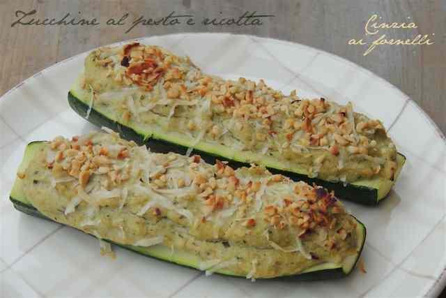 Zucchine ripiene: pesto e ricotta