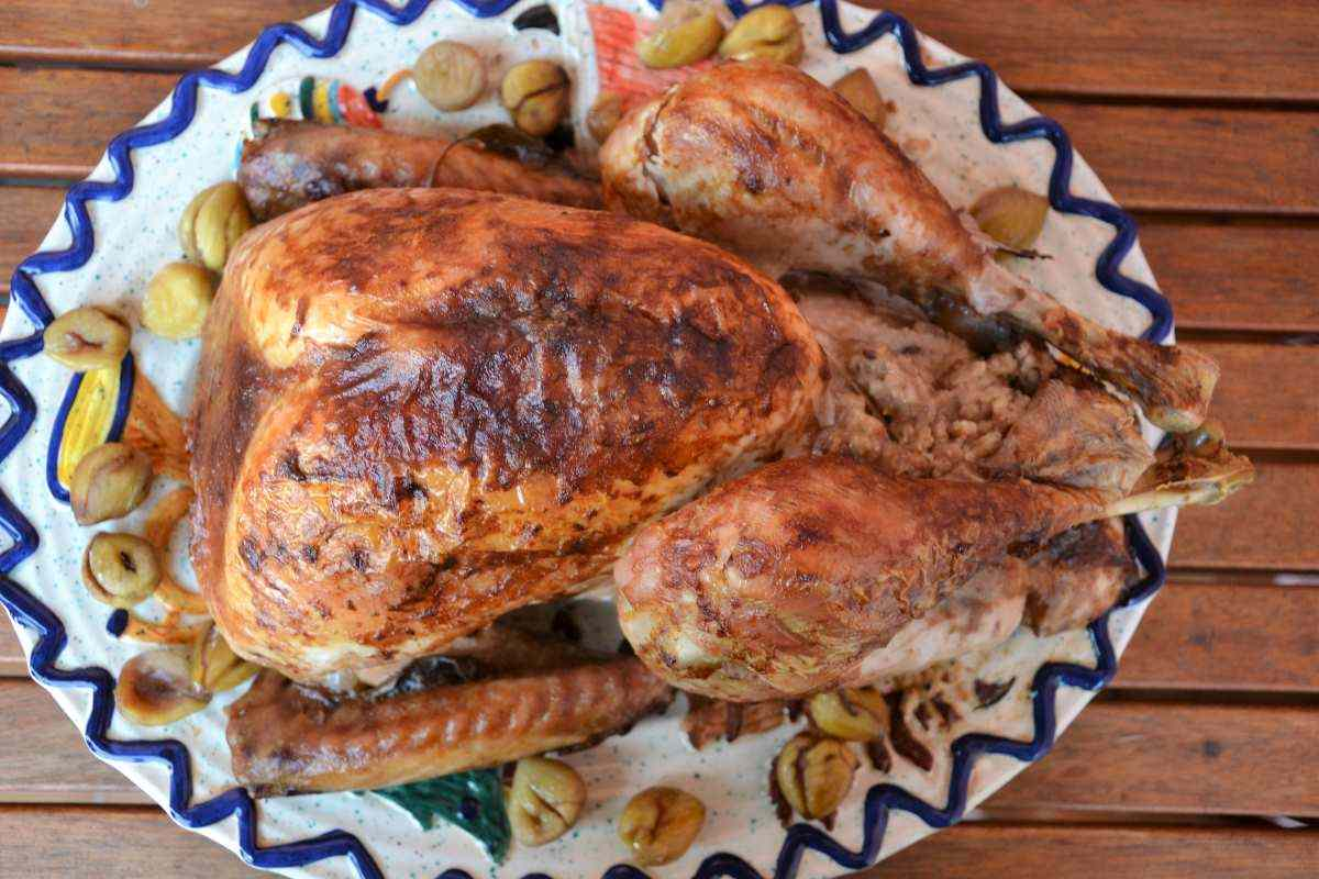 Ricetta: Tacchinella farcita castagne e pancetta