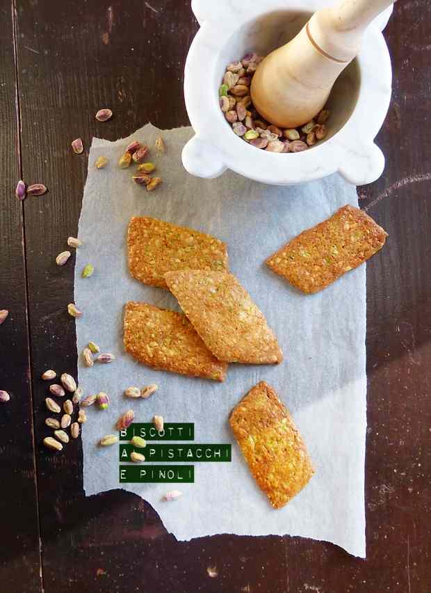 Ricetta: Biscotti ai pistacchi e pinoli