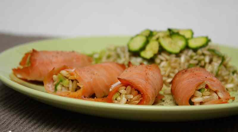 Ricetta: Involtini di salmone ripieni di riso
