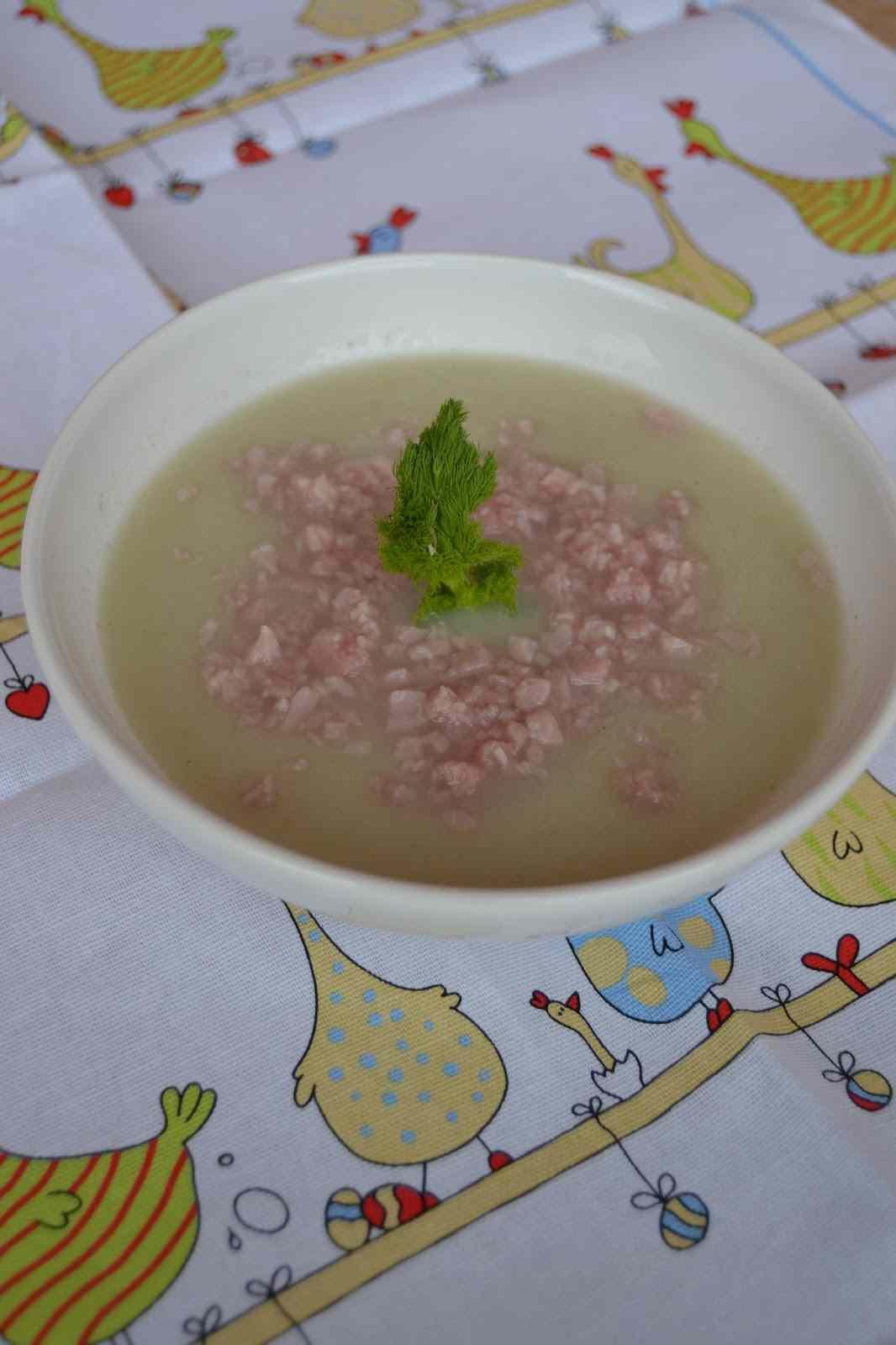 Ricetta: Crema di finocchi con briciole di prosciutto cotto
