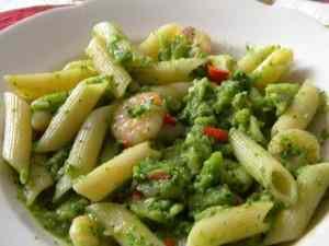 Penne mazzancolle broccoletti