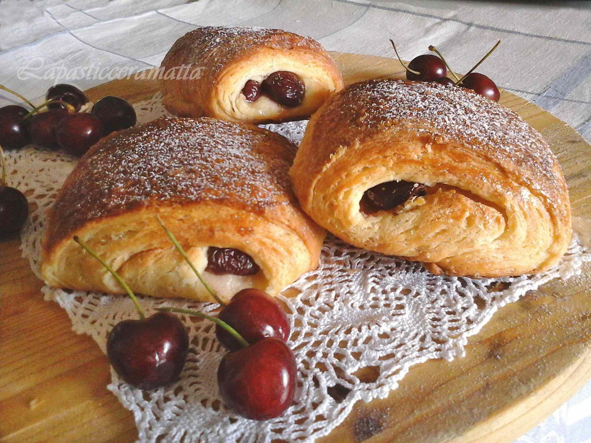 Ricetta: Pain aux cerises con pasta madre