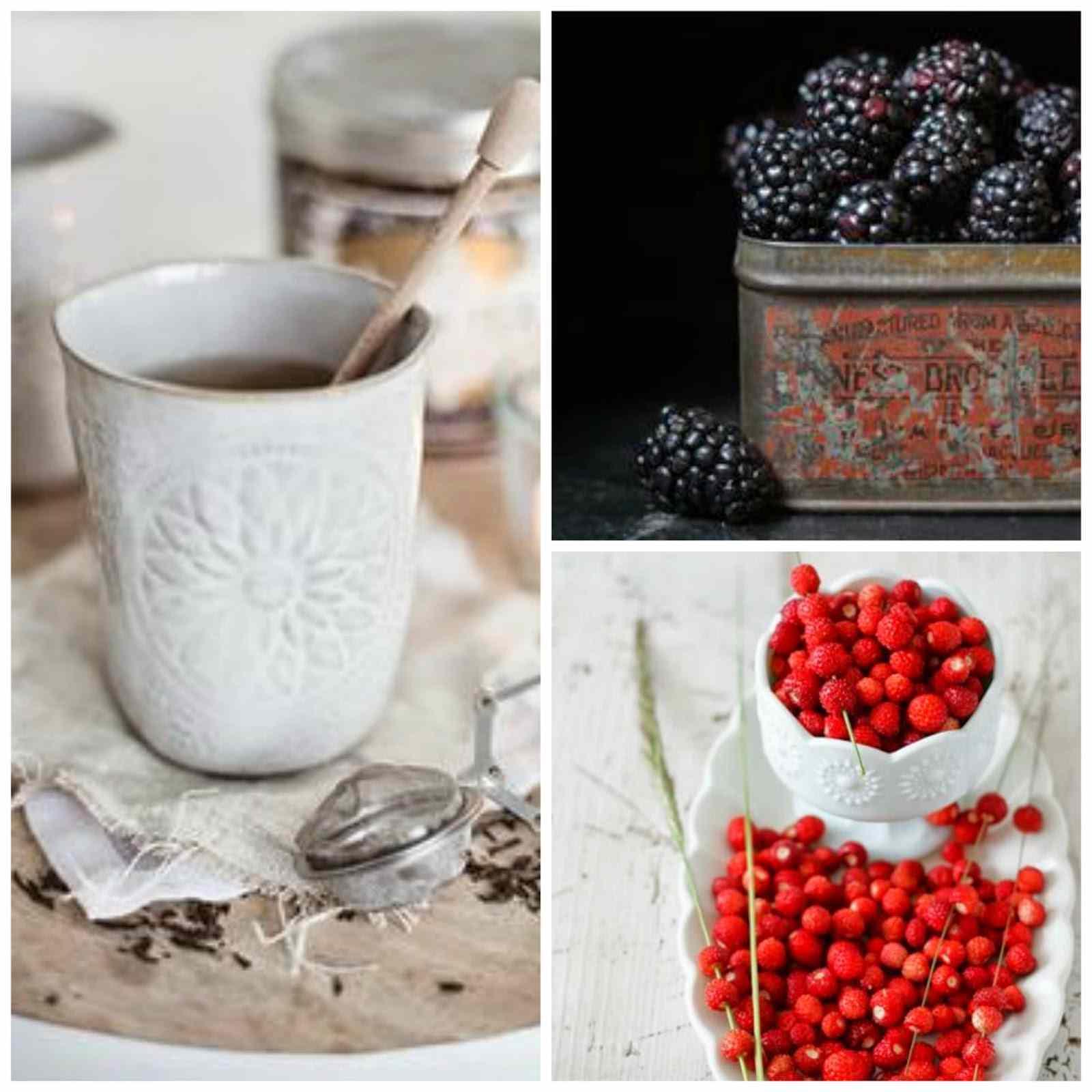 Ricetta: Tisana di uvetta, more e fragoline / herbal tea with raisins, malberries and wild strawberries