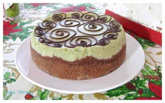 Cheesecake al pistacchio e cioccolato fondente
