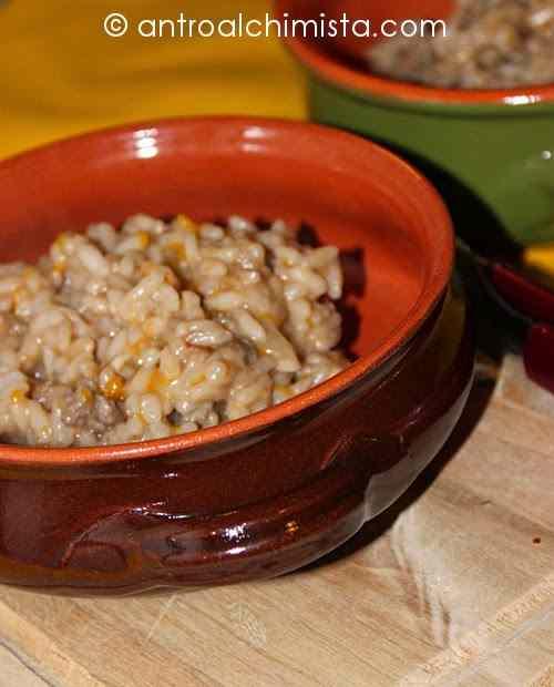Ricetta: Risotto alla zucca con salsiccia  e scamorza affumicata