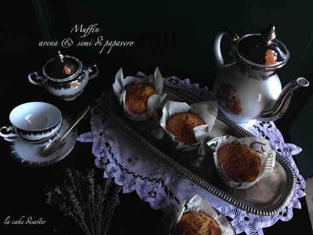 Muffin avena e semi di papavero
