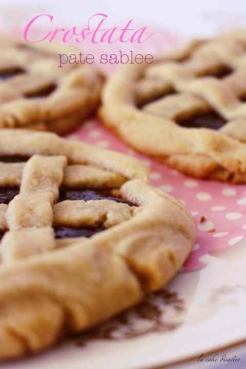 Ricetta: Crostata pate sablee con confettura di prugne