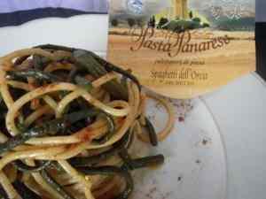 Ricetta: Spaghetti dell'Orcia con fagiolini metro e peperoncino dolce