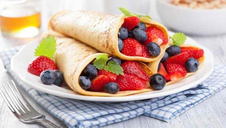 Crepes ai frutti di bosco