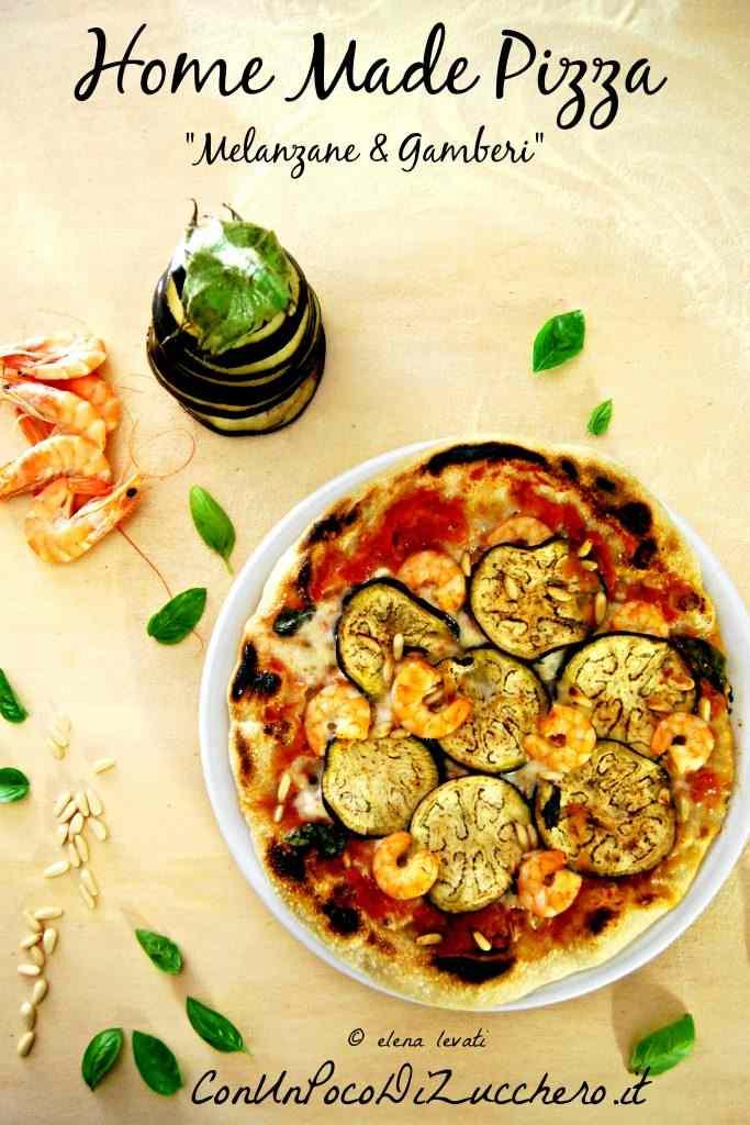 Pizza fatta in casa alle melanzane