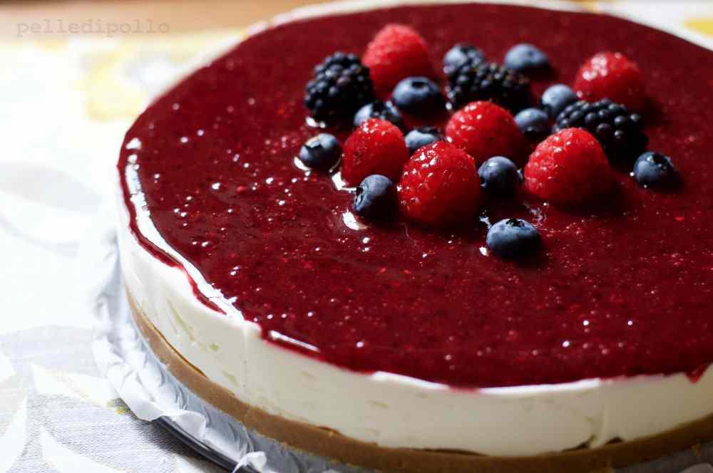 Ricetta: Cheesecake senza cottura al lime e frutti di bosco