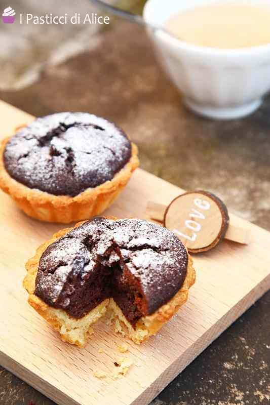 Ricetta: Cestini di frolla e brownies