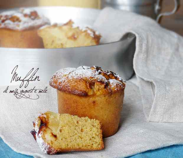 Muffin al mais, yogurt e mele