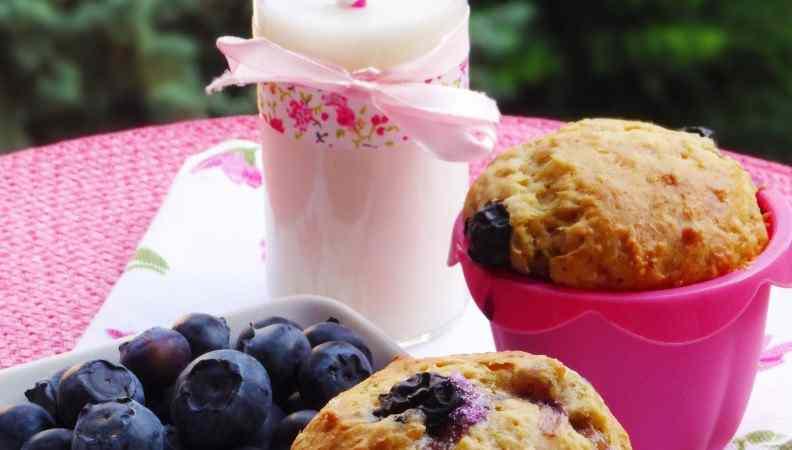 Muffins ai mirtilli senza glutine ed uova