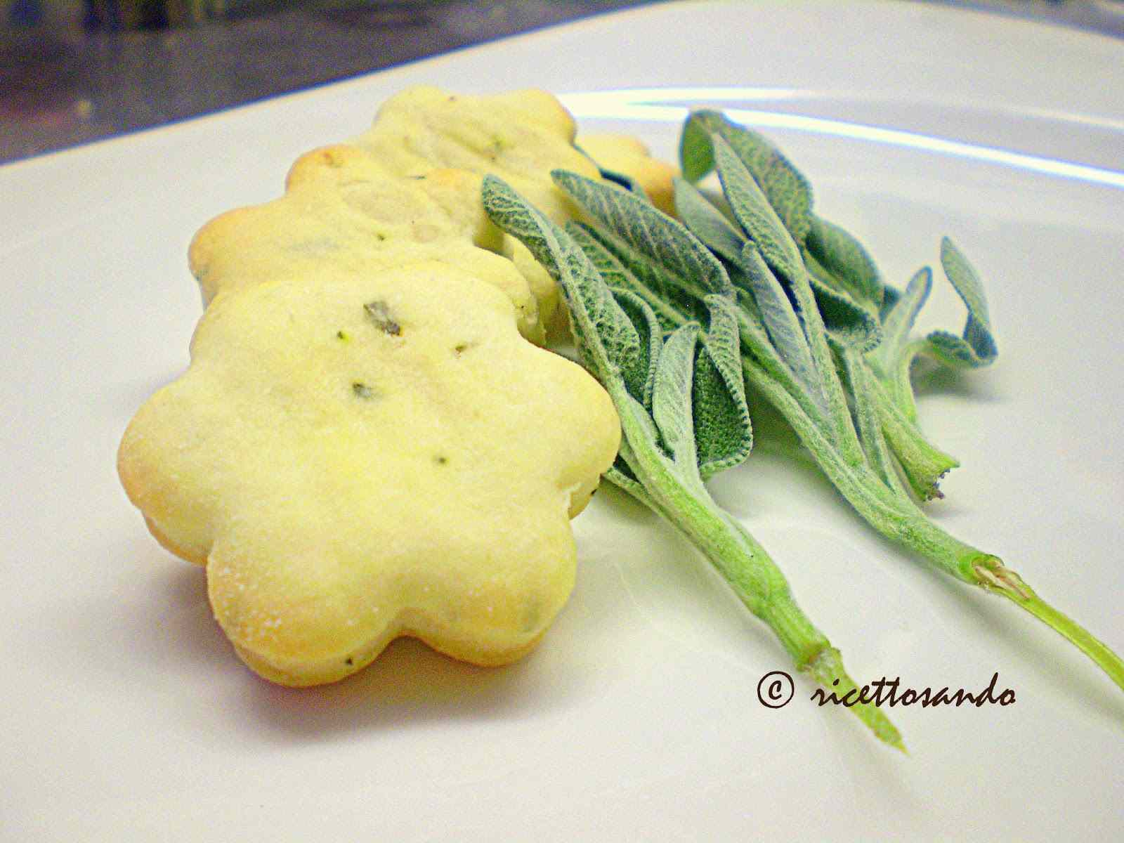 Ricetta: Biscotti salati alla salvia Liguria