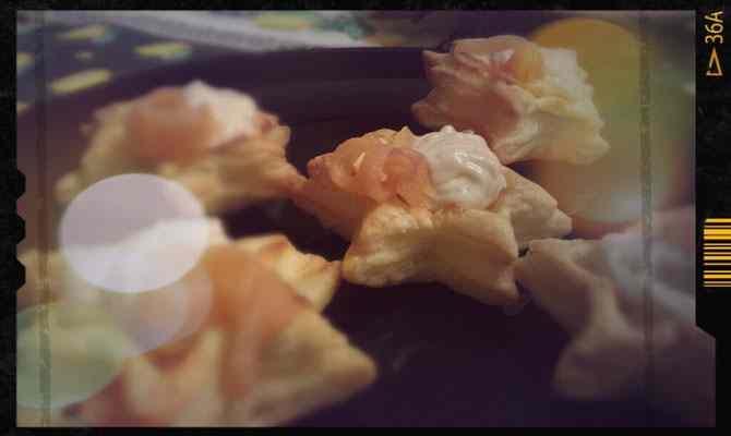 Stelle di Sfoglia con Crema di Salmone