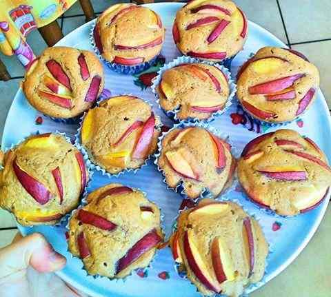 Ricetta: Muffin integrali alle pesche