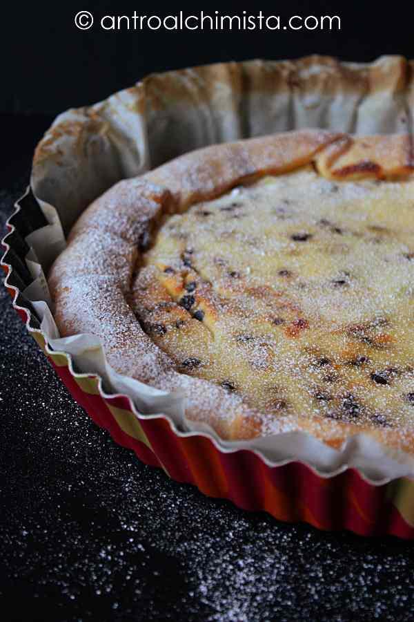 Ricetta: Crostata Veloce con Ricotta Romana, Polvere d Arancia e Gocce di Cioccolato