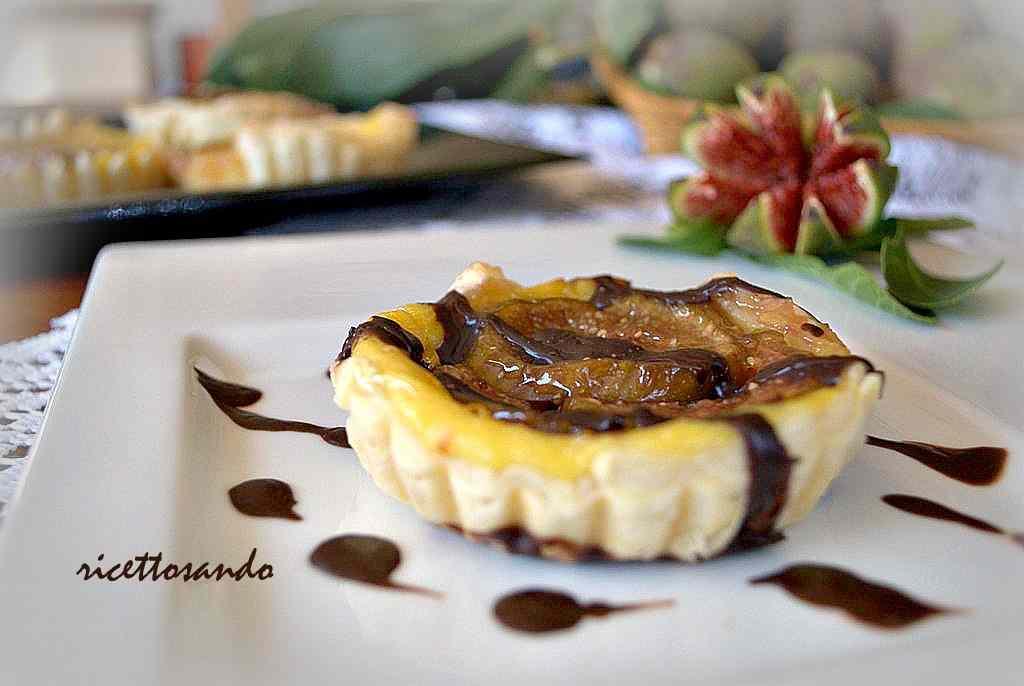 Ricetta: Tartellette ai fichi con crema pasticcera e zenzero